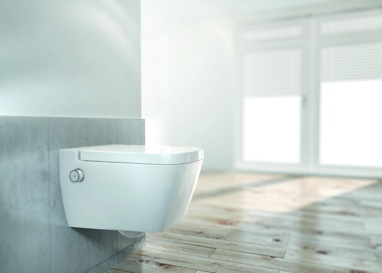 hi tech toilette mit wasserstrahl. Black Bedroom Furniture Sets. Home Design Ideas