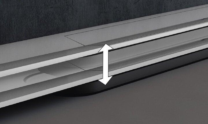 TECEdrainprofile einfache Höheneinstellung