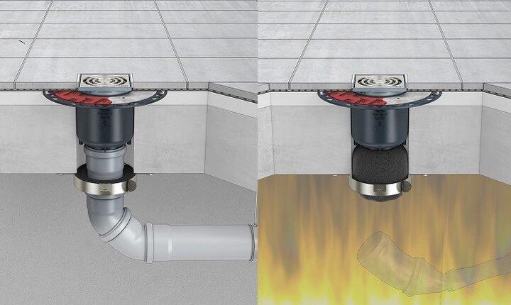 TECEdrainpoint S - FireStop