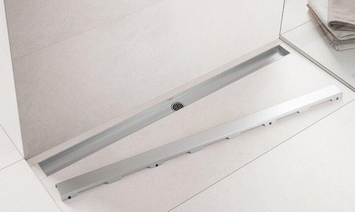 duschrinne tecedrainline duschrinnen edelstahl glas naturstein tece schweiz. Black Bedroom Furniture Sets. Home Design Ideas